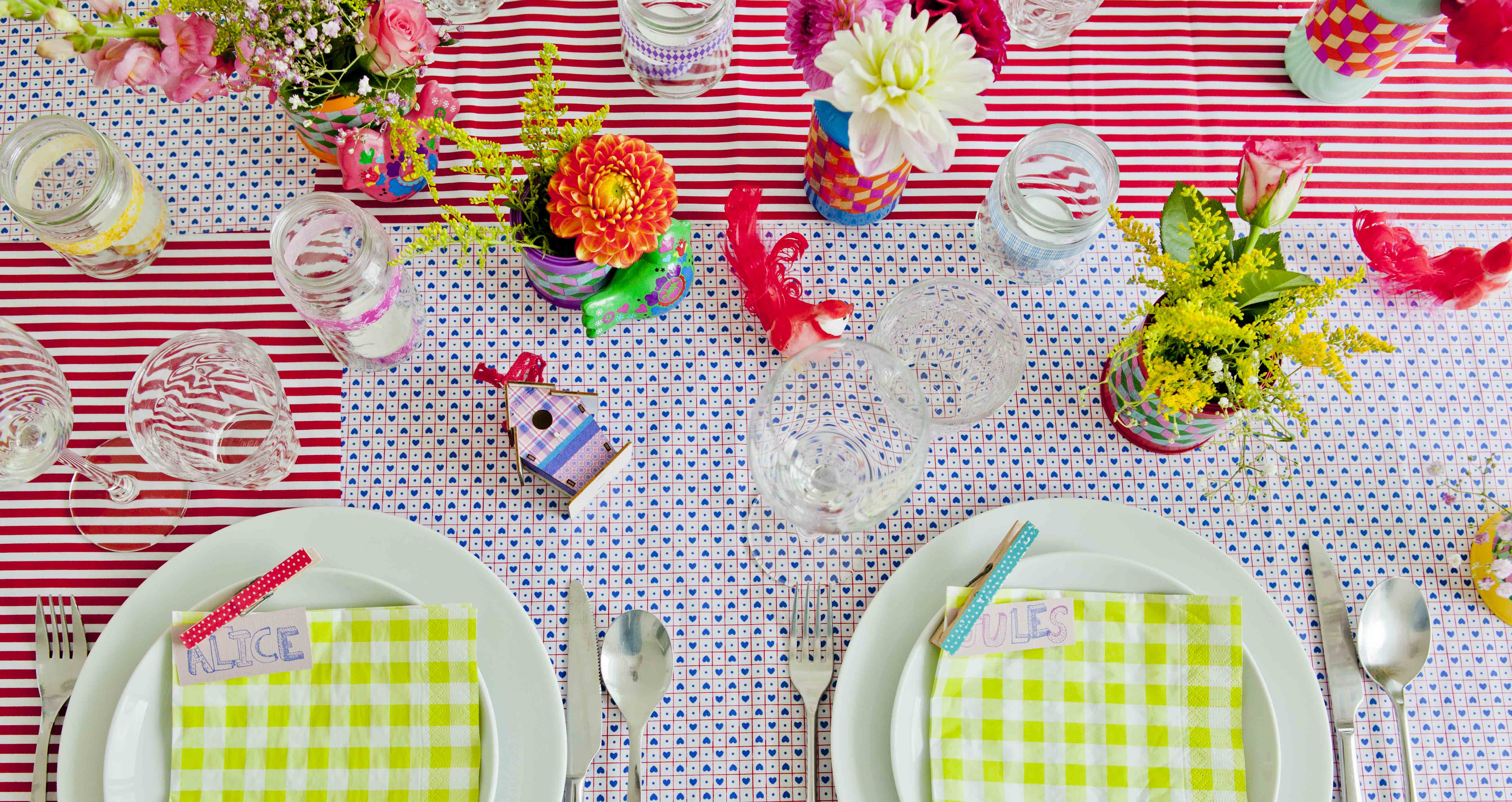 kleurige tafel
