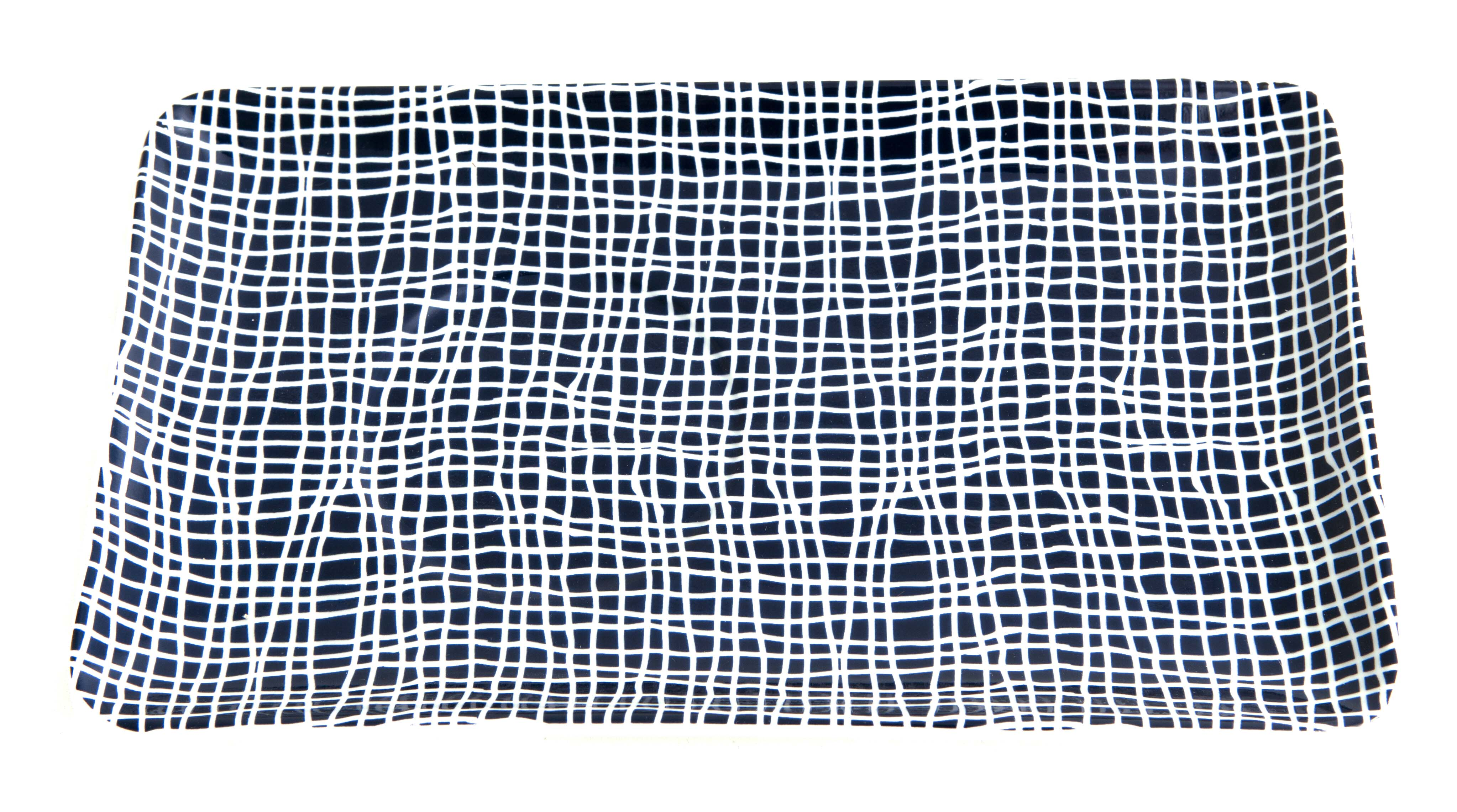 bordjes met grafische print lijnen