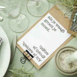 quotes op tafel