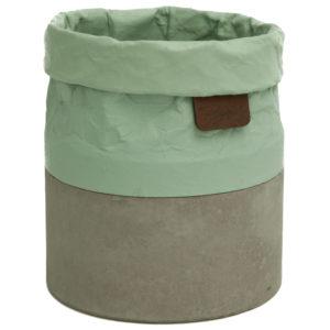 BOB'S CONTAINER met mintgroene bovenkant en grijze onderkantmintgroen