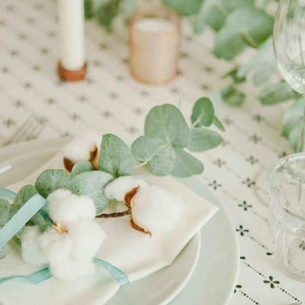kersttafel eucalyptus